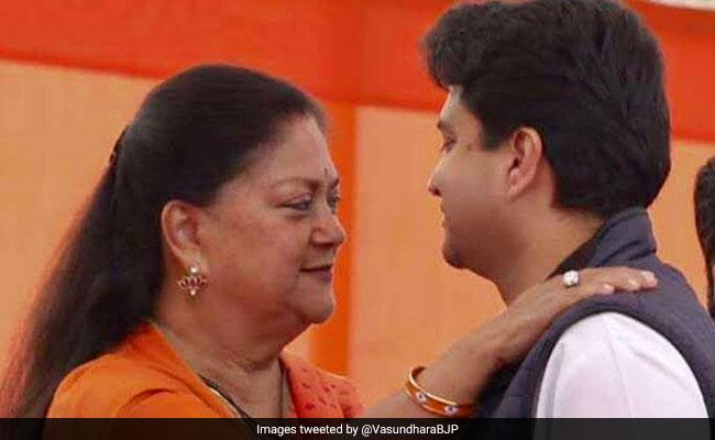 'Good To Be On Same Team': Vasundhara Raje To Nephew Jyotiraditya Scindia
