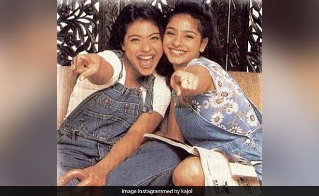 Kajol's Throwback Pic With Sister Tanishaa Mukerji Is Sibling Goals