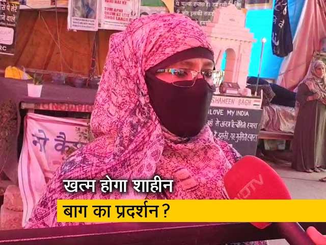 Videos : शाहीन बाग में 94 दिन से धरना जारी, कोरोना से बचने के लिए लगाए गए तख्त
