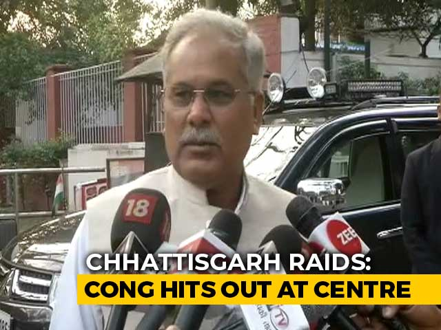 Video : Centre vs State In Chhattisgarh As Raids, FIRs Counter Each Other