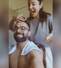 Anushka Sits Virat Down For A Haircut With Kitchen Scissors. The Result..