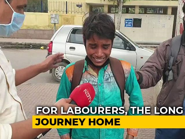 """Video : """"Want To Go Home"""": Boy Weeps At Deserted Delhi Bus Station Amid Lockdown"""