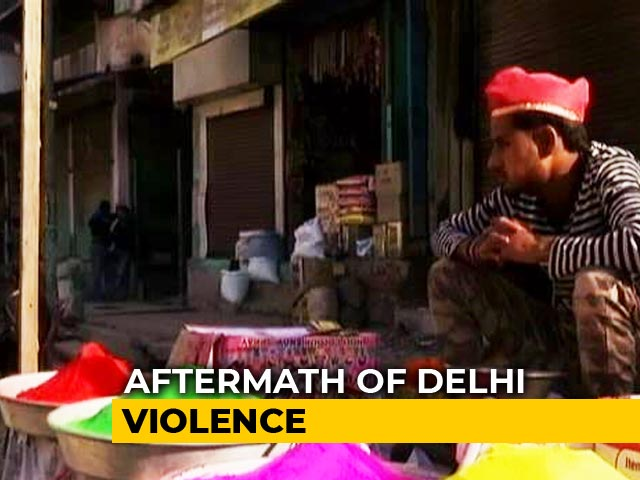 Video : Aftermath Of Violence: No Holi Celebrations This Time In Northeast Delhi