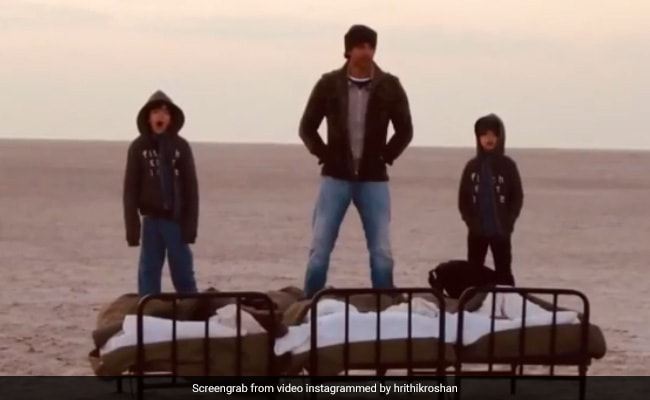 """When Hrithik Roshan And His Sons Were In A """"Different Kind Of Self-Isolation"""""""