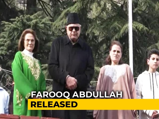 """Video : """"I Am Free, Hope Everyone Else Will Be Released"""": Farooq Abdullah"""