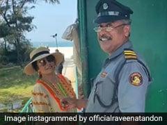 रवीना टंडन को गोवा में इस अनोखे फैन ने कर दिया हैरान, बोला- शहर की लड़की...देखें Video