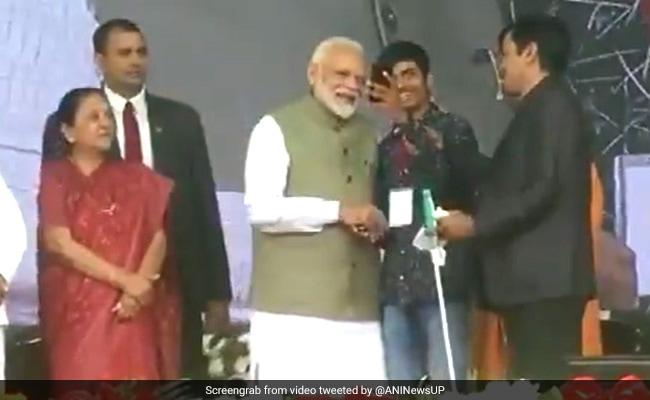 Visually-Challenged Youth Clicks Selfie With PM Modi In Prayagraj