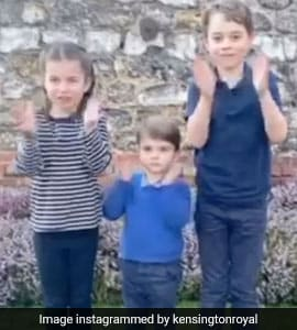 Watch: UK's Youngest Royals Join In Applauding Health Workers