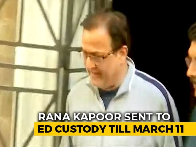 Video : Crisis-Hit Yes Bank Founder Rana Kapoor Arrested For Alleged Fraud