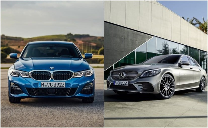 BMW Posts A Picture Of The C-Class, Mercedes Posts One With The 3 Series. Here's Why