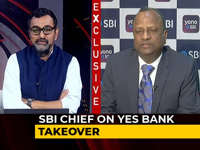 "Video : Yes Bank Moratorium Could End ""Within A Week"": SBI Chairman"