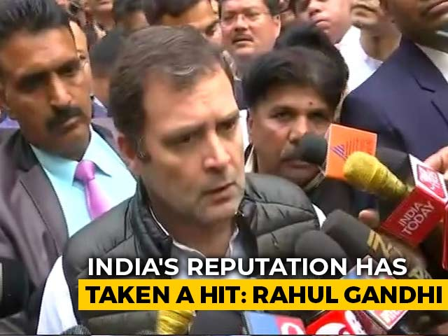 "Video : ""India's Reputation Hit"": Rahul Gandhi Visits Violence-Hit Areas In Delhi"