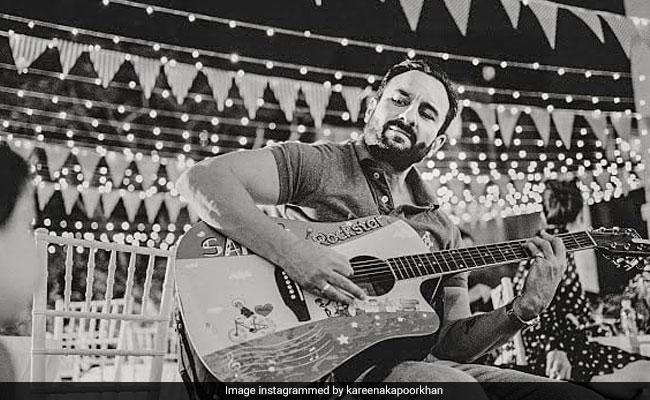 Kareena Kapoor Shares Pic Of Her 'Love' Saif Ali Khan 'Playing His Own Tune'