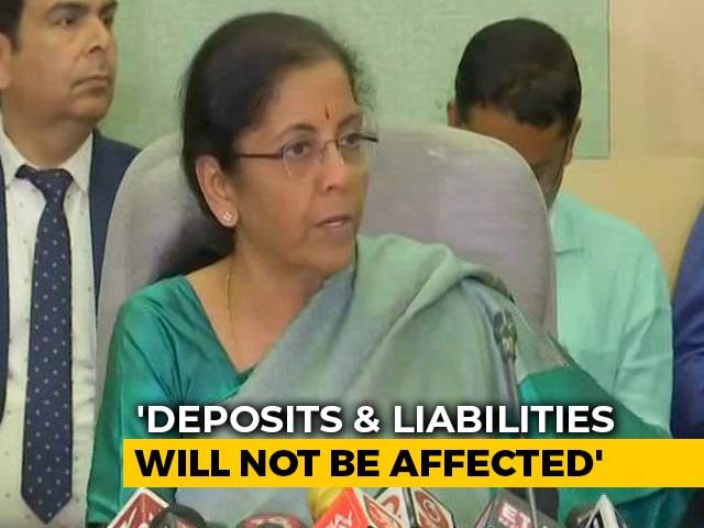 Video: Deposits, Liabilities Won't Be Affected: Finance Minister On Yes Bank