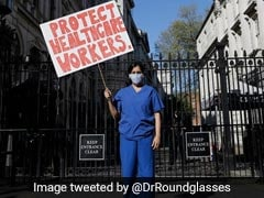 """Protect Healthcare Workers"": Indian-Origin Pregnant Doctor Protests Outside Boris Johnson's Office"