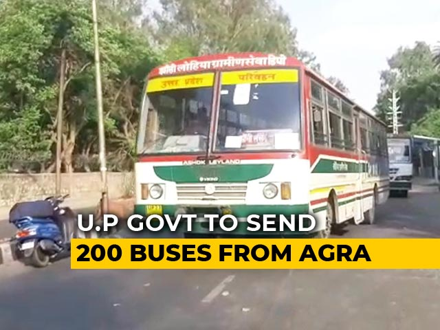Video : UP Sends 200 Buses From Agra To Rajasthan's Kota To Evacuate Students