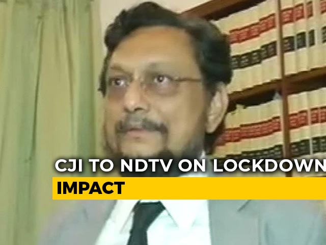 Video : From 205 Cases A Day To 305 A Month: CJI Bobde On Lockdown Upside