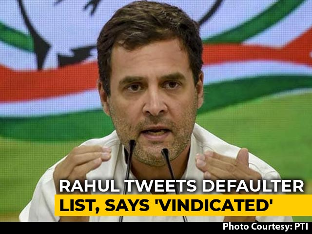 """Video : """"This Is Why Truth Was Hidden"""": Rahul Gandhi On RBI's Defaulters List"""