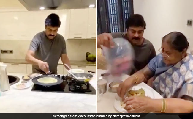 South Superstar Chiranjeevi Made Dosa For Mother In This Fabulous Style, Fans Are Not Tired Of Praising, Watch Viral Video