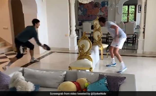 Coronavirs Lockdown Novak Djokovic playing Tennis indoors watch video