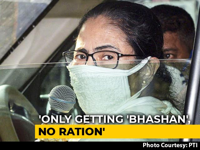 """Video : """"Not Just Bhashan, Give Ration Too"""": Mamata Banerjee's Swipe At Centre"""