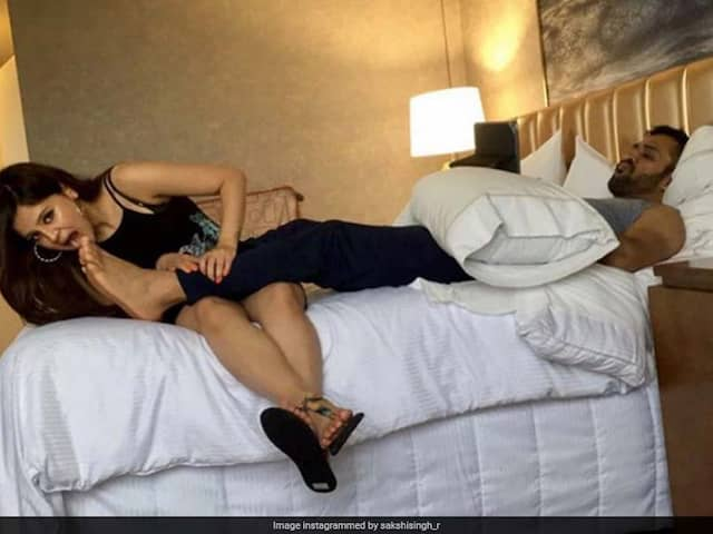 "MS Dhonis Wife Sakshi Craves ""Attention From Mr. Sweetie"" But He Is Busy With His Video Game"