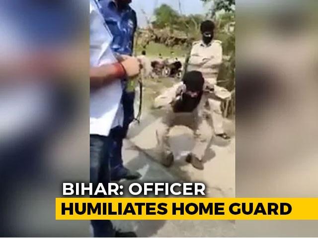 "Video : On Camera, Bihar Home Guard Seeking Officer's Lockdown Pass ""Punished"""