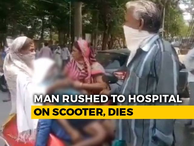 Video : Allegedly Refused Ambulance, Man Rushed To Hospital On Scooter Dies