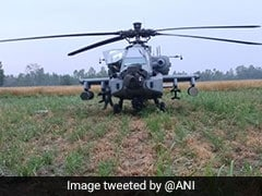 IAF's Brand New Apache Chopper Makes Emergency Landing In Punjab Field