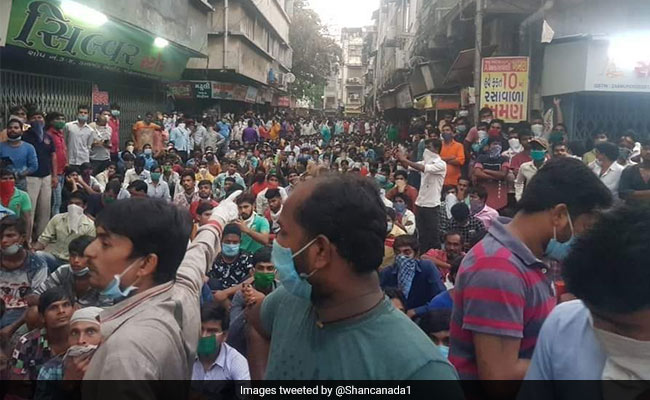 Migrant Workers Stage Another Protest In Surat, Say They Want To Go Home