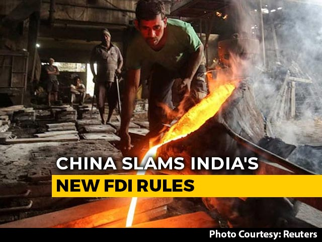 "Video : China Slams India's New FDI Rules, Calls It ""Discriminatory"""