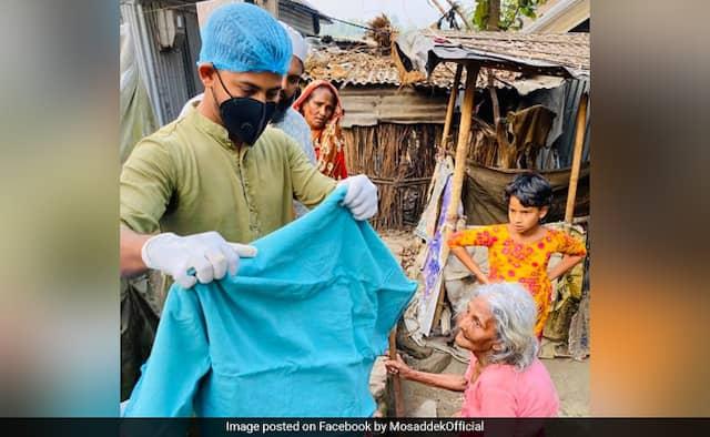 Bangladesh cricketer Mosaddek Hossain hits the streets in combat in opposition to coronavirus