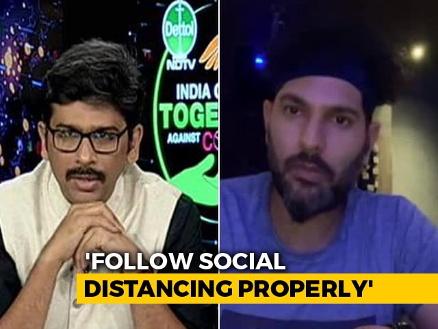 Video : Former Indian Cricketer Yuvraj Singh Focusses On Fitness During Lockdown