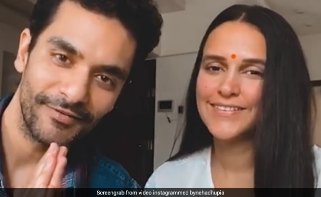 This BTS Video Of Neha Dhupia And Angad Bedi Wishing Fans On Baisakhi Will Leave You In Splits