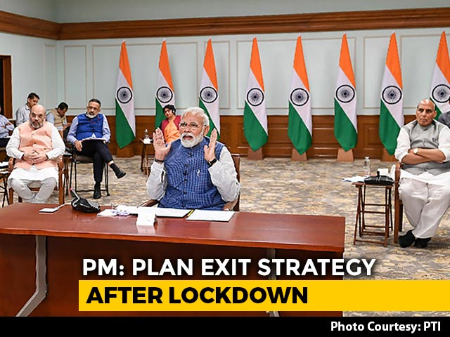 Video : PM Modi Holds Video Conference With Chief Ministers