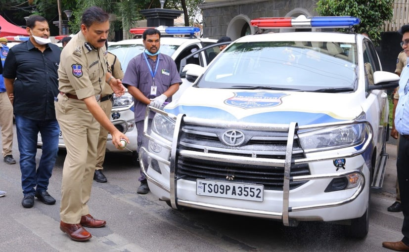 Mahavir Group is using 3M Germkleen to disinfect the police four-wheelers and two-wheelers