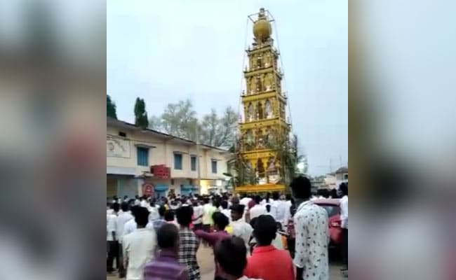 Over 100 Gather For Temple Chariot Event At COVID-19 Hotspot In Karnataka