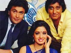 Rishi Kapoor, Sridevi, Vinod Khanna, Yash Chopra. Twitter Won't Forget Team <i>Chandni</i>