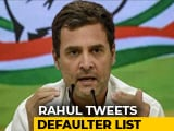 "Video : ""This Is Why Truth Was Hidden"": Rahul Gandhi On RBI's Defaulters List"