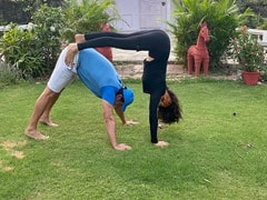 Pooja Batra And Nawab Shah Doing Couples' Yoga Is The Best Thing You'll See Today