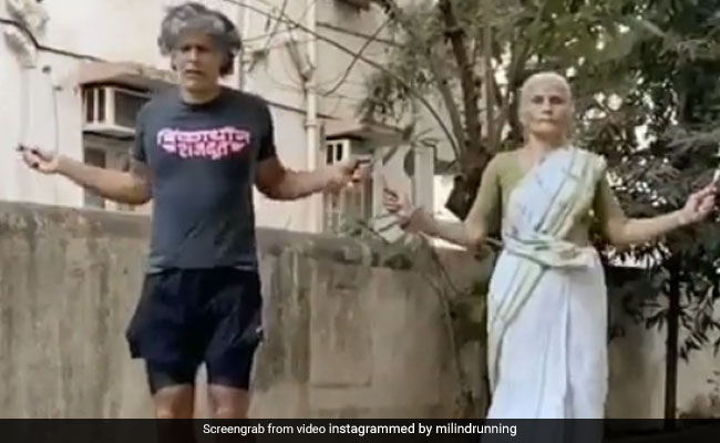 This Workout Video Of Milind Soman And His Mom, 81, Is Giving Us Major Fitness Goals