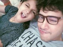 "A Glimpse Of Mahesh Babu ""Goofing Around"" With Daughter Sitara During Lockdown"
