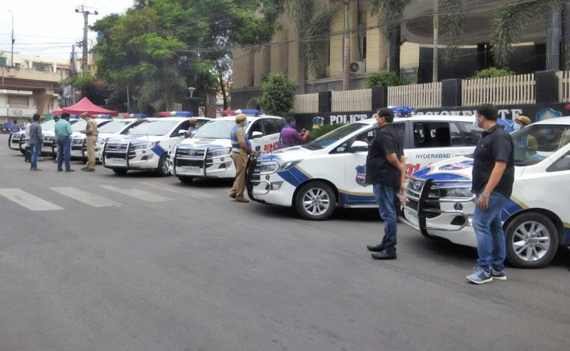Coronavirus: Here's How Hyderabad Police Is Keeping Its Vehicles Sanitised