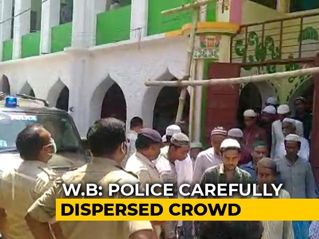 Video : Friday Prayer Crowd Dispersed By Police In West Bengal's Murshidabad