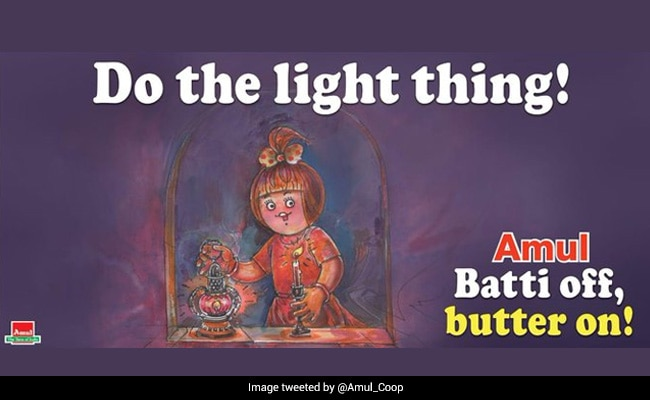 Amul Made Doodles On PM Modi's Plea To Turn Off The Lights, Twitter Uzers Made Funny Comments