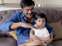 "Chiranjeevi Cherishes ""Pre-Lockdown Moments"" In This Throwback Video With Granddaughter"