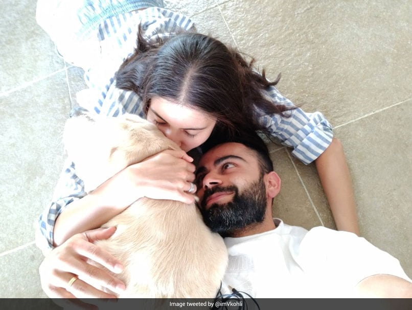"""""""Life Is A Blessing"""": Virat Kohli Shares Cute Picture With Anushka Sharma And Pet Dog"""