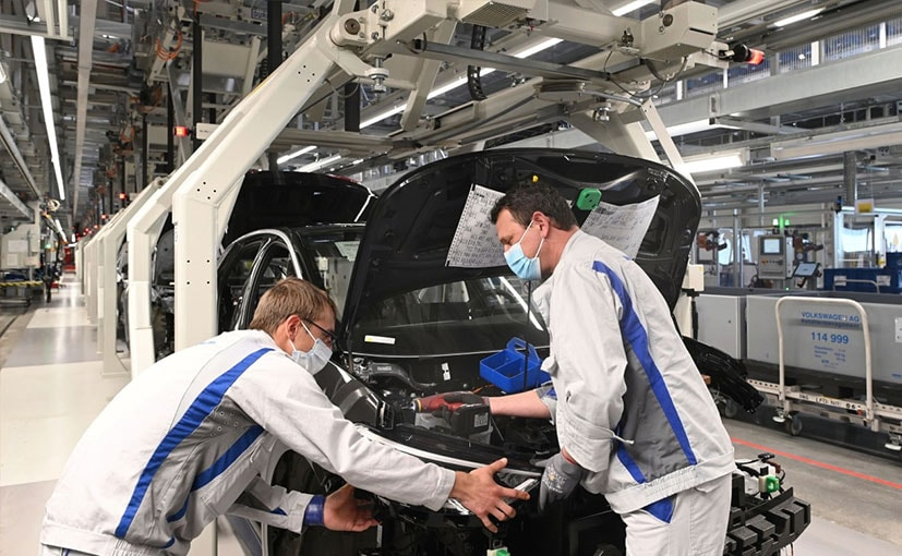 Volkswagen Resumes Production Of ID.3 Electric Car At Zwickau Plant In Germany