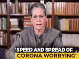 "Video : ""BJP Continues To Spread Virus Of Communal Prejudice"": Sonia Gandhi"