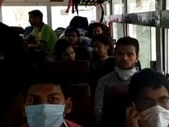 Buses With Students From Rajasthan Return To UP, Evacuees To Be Screened